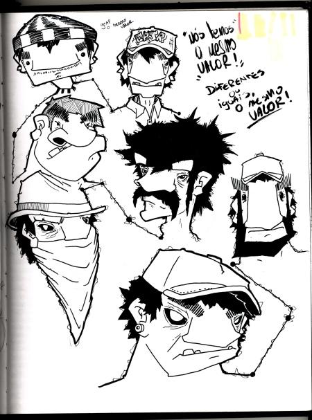 Alguns desenhos do blackbook.